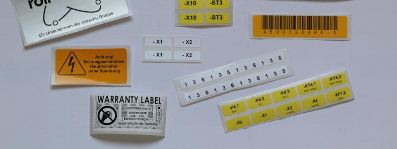individuelle Etiketten z.B. Barcode-Etiketten