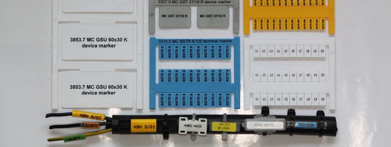 Kabelbeschriftung, Klemmen- und Gerätekennzeichnung